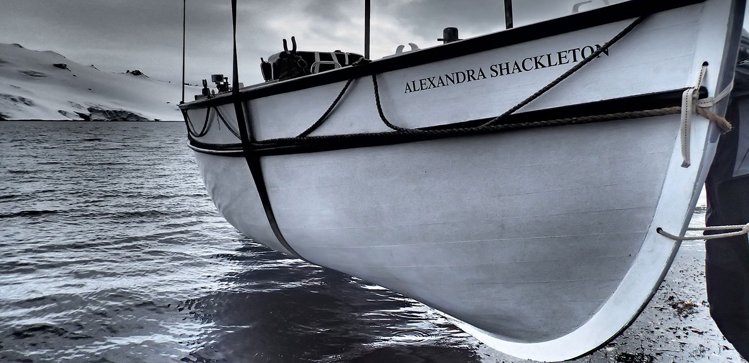 Alexandra-Shackleton-being-lowered-into-water-near-King-George-Island_SML.-Credit-A.Kumar-Shackleton-Epic